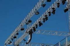 De verlichtingssysteem van het stadium Royalty-vrije Stock Foto's