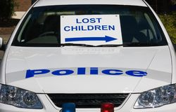 De verloren Kinderen ondertekenen Stock Afbeeldingen