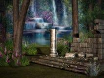 De verloren Tempel ruïneert 2 stock illustratie