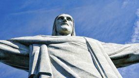 De Verlosserstandbeeld Rio De Janeiro Brazil van Christus Stock Foto