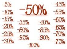 De vermindering van de prijs vector illustratie