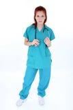 De vermoeide Verpleegster van de Zaal van de Noodsituatie Royalty-vrije Stock Afbeelding