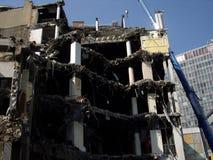 De vernietigde bouw Stock Afbeeldingen