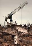 De vernietigde bouw stock fotografie