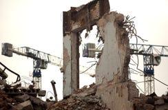 De vernietigde bouw royalty-vrije stock foto's