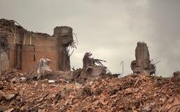De vernietigde bouw royalty-vrije stock afbeelding