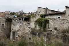 De vernietigde bouw na een aardbeving Stock Fotografie