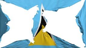 De vernietigde vlag van Heilige Lucia royalty-vrije illustratie