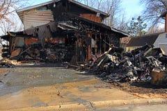 Brand op Eiken Bluff 9 Stock Afbeeldingen