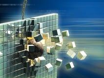De vernietiging van gegevens stock illustratie