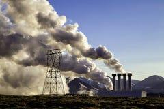 De vernieuwbare elektrische elektrische centrale van IJsland stock fotografie