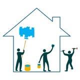De vernieuwing van het huis Stock Afbeeldingen