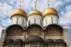 De veronderstellingskathedraal, Moskou het Kremlin, Rusland. Stock Afbeeldingen