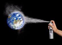De verontreiniging van de aarde. Stock Fotografie