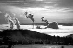 De verontreiniging van de schoorsteen. Stock Afbeeldingen