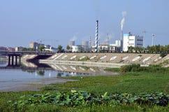 De verontreiniging van de stad stock afbeelding