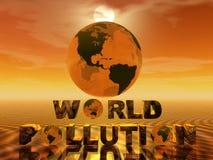 De verontreiniging van de wereld Stock Afbeeldingen