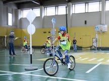 De verordeningen van het studieverkeer in het kinderen` s dorp Royalty-vrije Stock Foto