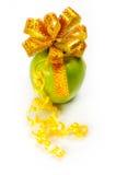 De verpakking van de appel in gele band Royalty-vrije Stock Foto's