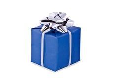 De verpakking van de gift, blauwe doos Royalty-vrije Stock Afbeeldingen