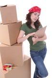 De Verpakking van de vrouw Stock Foto's