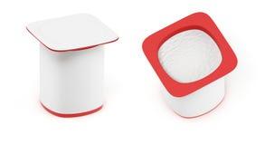 De verpakking van de yoghurt Stock Foto