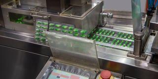 De verpakkingsmachine van de capsuleblaar stock foto's