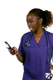 De Verpleegster van de Telefoon van de cel stock afbeeldingen