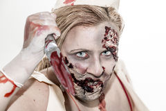 De verpleegster van de zombie Stock Foto