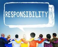 De Verplichting Job Trustworthy Concept van de verantwoordelijkheidsplicht Stock Fotografie