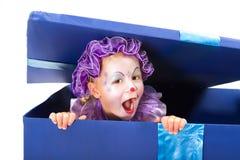 De verrassing van de clown Stock Fotografie
