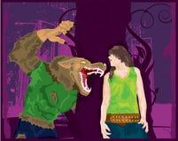 De Verrassing van de weerwolf. stock illustratie