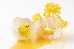 De verrassing van het ei Stock Foto's