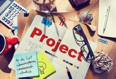 De Verrichting Job Strategy Venture Task Concept van het projectplan Royalty-vrije Stock Fotografie