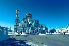 De Verrijzeniskathedraal in het Nieuwe Klooster van Jeruzalem van de 17de eeuw De stad van Istra, de voorsteden van Moskou, Rusla stock foto