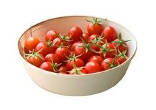De vers Geplukte Tomaten van de Kers Stock Foto