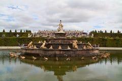 De Versailles-fontein Stock Foto