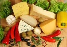 De verscheidenheden van de kaas royalty-vrije stock foto