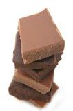 De Verscheidenheid van de chocolade stock foto
