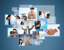 De verscheidenheid van foto's ontwerpt zaken Stock Foto