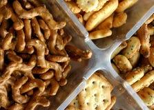 De verscheidenheid van snacks Royalty-vrije Stock Afbeelding