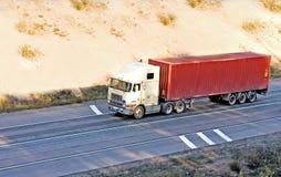 De verschepende vrachtwagen van de container van vrachtwagensreeks royalty-vrije stock afbeeldingen