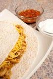 De verscheurde Tortilla van de Kip Stock Afbeeldingen