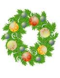 De verschijning van de pijnboom met decoratie Royalty-vrije Stock Fotografie