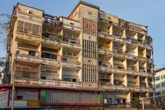 De verschijning van flats in Phnom Penh stock foto