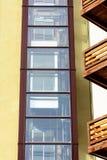 De verschijning van het hotel is mooi, uiterst complex, perspectief, balkons stock foto