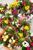 De verschillende achtergrond van bloemenboeketten Royalty-vrije Stock Afbeelding