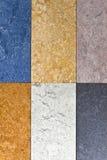 De verschillende achtergrond van de kleurenvloer Stock Fotografie