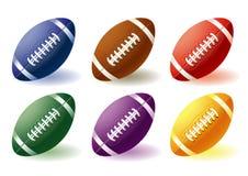 De verschillende ballen van het Rugby stock illustratie