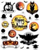 De Verschillende Elementen van Halloween Royalty-vrije Stock Afbeeldingen